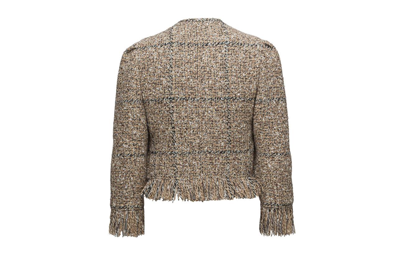 6 2 Inner Coton Polyester Laine 43 Coquille Sable Acrylique Extérieure Mohair Sonia Doublure Rykiel 21 brun 14 100 Cupro Veste Polyamide 4zTqZO