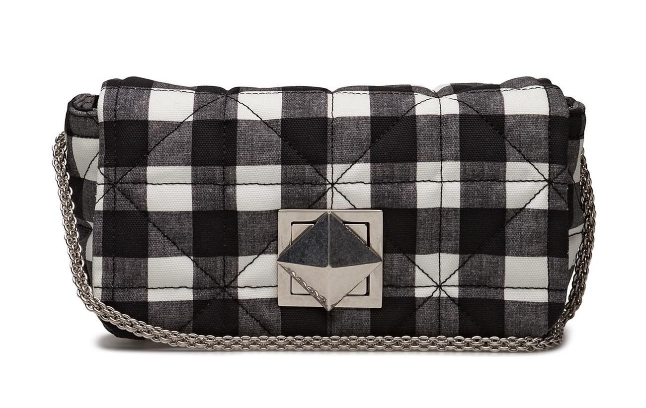 Rykiel Mm Copain Noir 100 Sonia Doublure Le Fabric Coton Main blanc Chain Zamac Closure Laiton wtIqd
