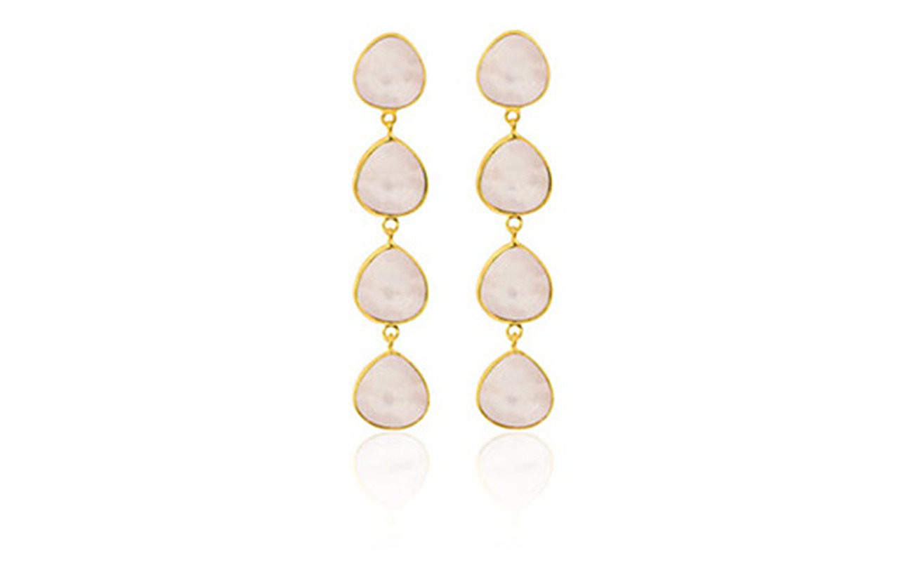 SOPHIE by SOPHIE Multi stone earrings - GOLD/PINK