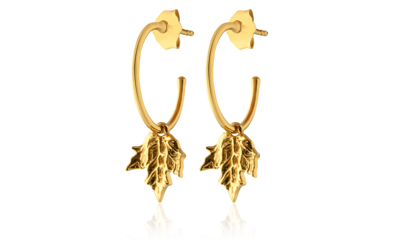 SOPHIE by SOPHIE Maple mini hoops - GOLD