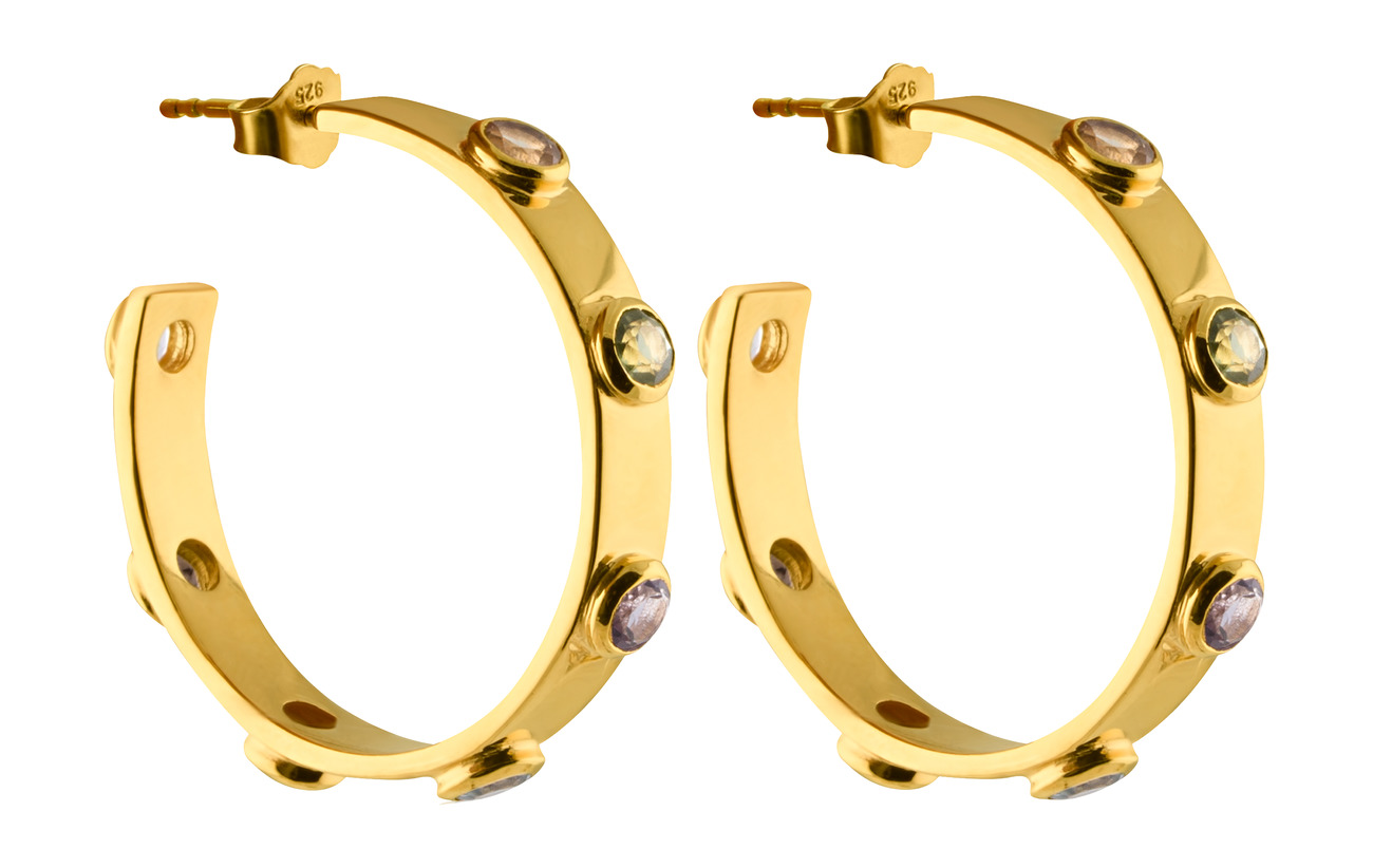 SOPHIE by SOPHIE Stone mania hoops M - GOLD