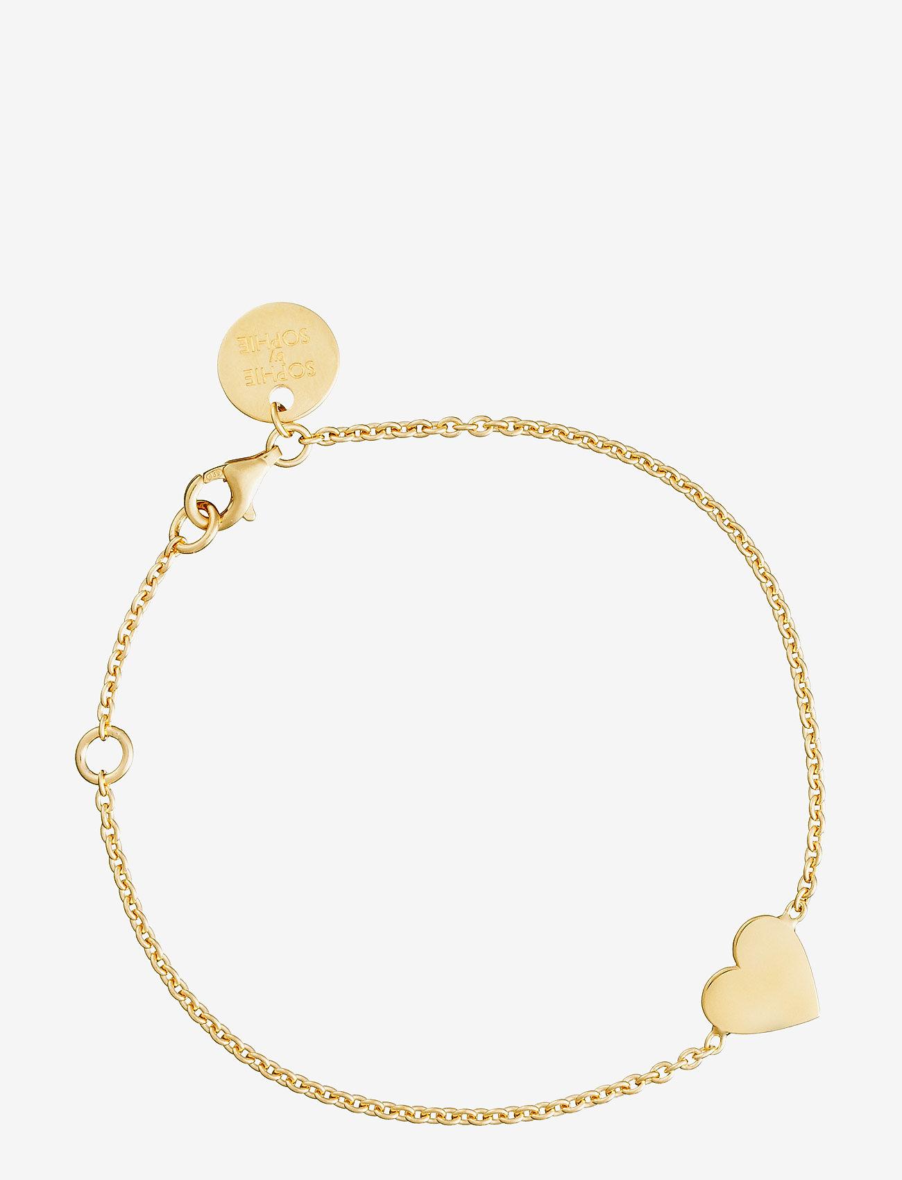 SOPHIE by SOPHIE - Heart bracelet - stilīgs - gold - 0