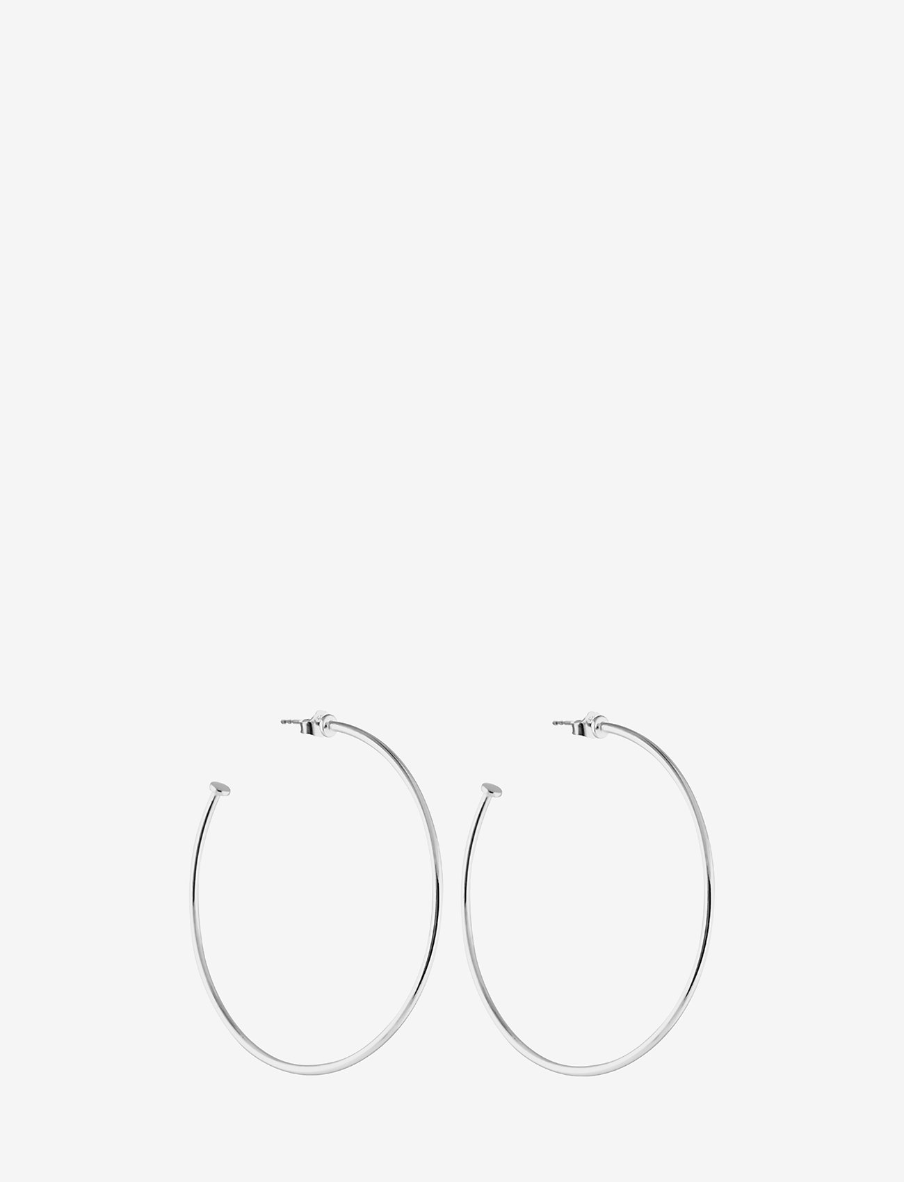 SOPHIE by SOPHIE - Hoops platesize large - studs - silver - 0