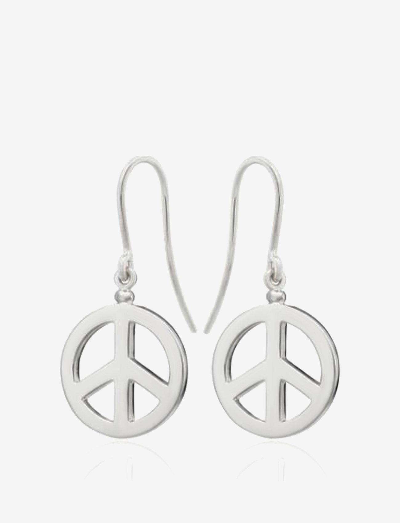 SOPHIE by SOPHIE - Peace hook earrings - hängande örhängen - silver - 0