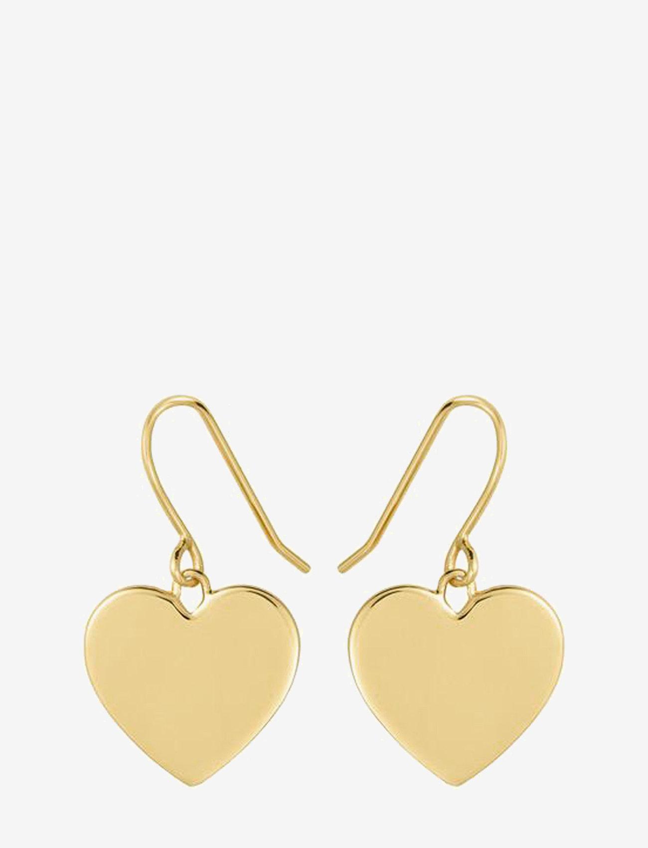 SOPHIE by SOPHIE - Heart hook earrings - hängande örhängen - gold - 0