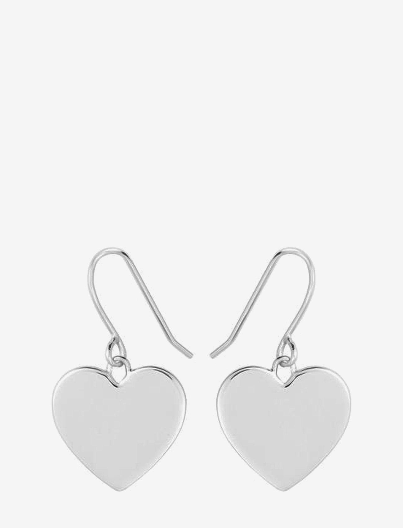 SOPHIE by SOPHIE - Heart hook earrings - hängande örhängen - silver - 0