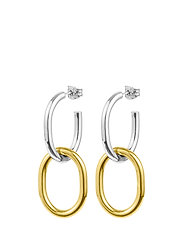 Two tone earrings - GOLD