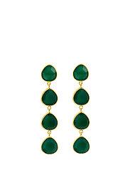 Multi stone earrings - GOLD