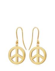Peace hook earrings - GOLD