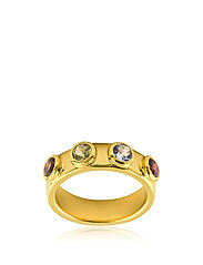 Stone mania ring - GOLD / MULTI COLOUR