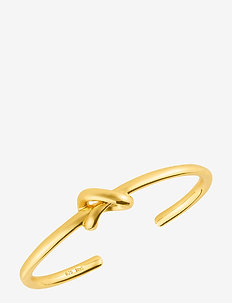 Knot cuff - bangles - gold