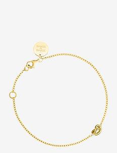 Knot bracelet - dainty - gold