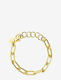 Link chain bracelet - dainty - gold