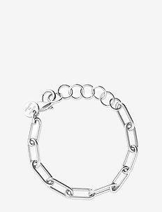 Link chain bracelet - dainty - silver