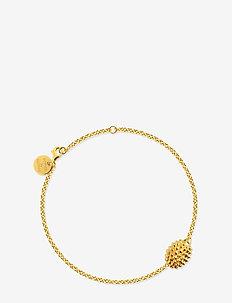 Hedgehog bracelet - dainty - gold