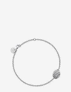 Hedgehog bracelet - dainty - silver
