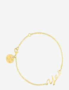 Yes Bracelet - dainty - gold