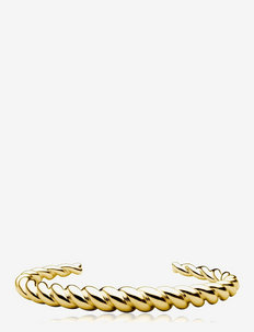 Twisted cuff - bangles - gold