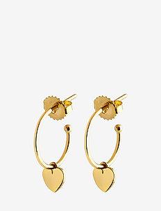 Mini hoops heart - hoops - gold