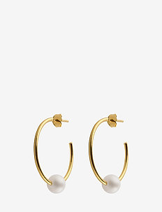 Pearl hoops - GOLD
