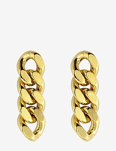 Pansar thin earring - hängande - gold