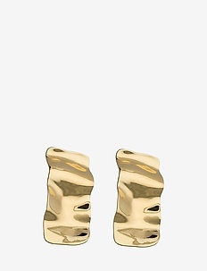 Hammered earrings - oorbellen - gold