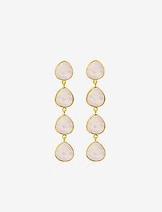 Multi stone earrings - GOLD/PINK