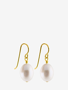 Oval pearl hook - GOLD