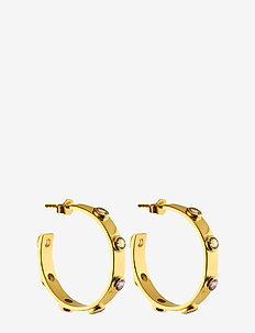 Stone mania hoops M - hoops - gold