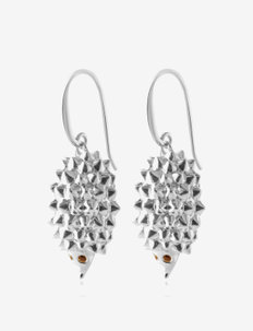 Hedgehog earrings - hängande örhängen - silver