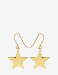 Star hook earrings - pendant earrings - gold