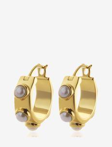 Funky pearl minihoops - cerceaux - gold