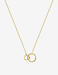Mini circle necklace - små halskjeder - gold