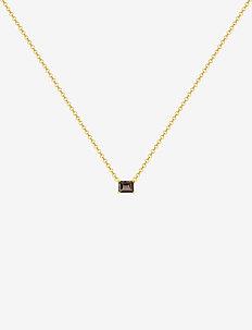 Emerald-cut necklace - GOLD