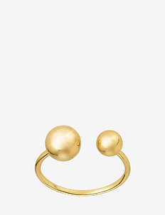 Two planet ring - ringen - gold
