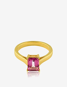 Emerald-cut ring S - GOLD / PINK