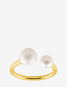 Funky pearl ring - GOLD