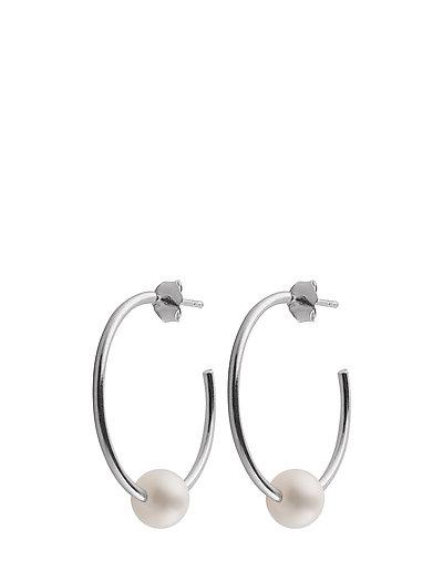 Pearl hoops - SILVER
