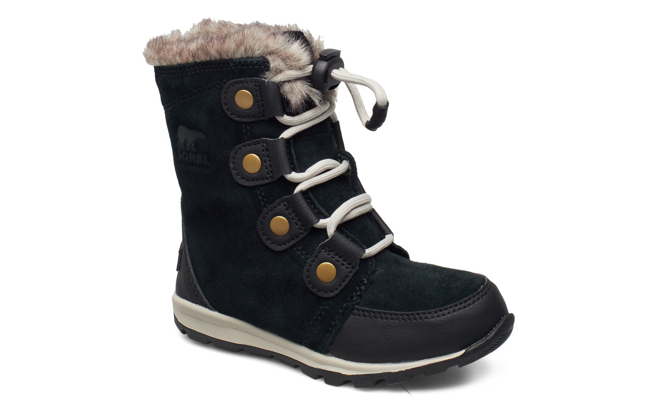 Sorel YOUTH WHITNEY  SUEDE - BLACK, DARK STONE