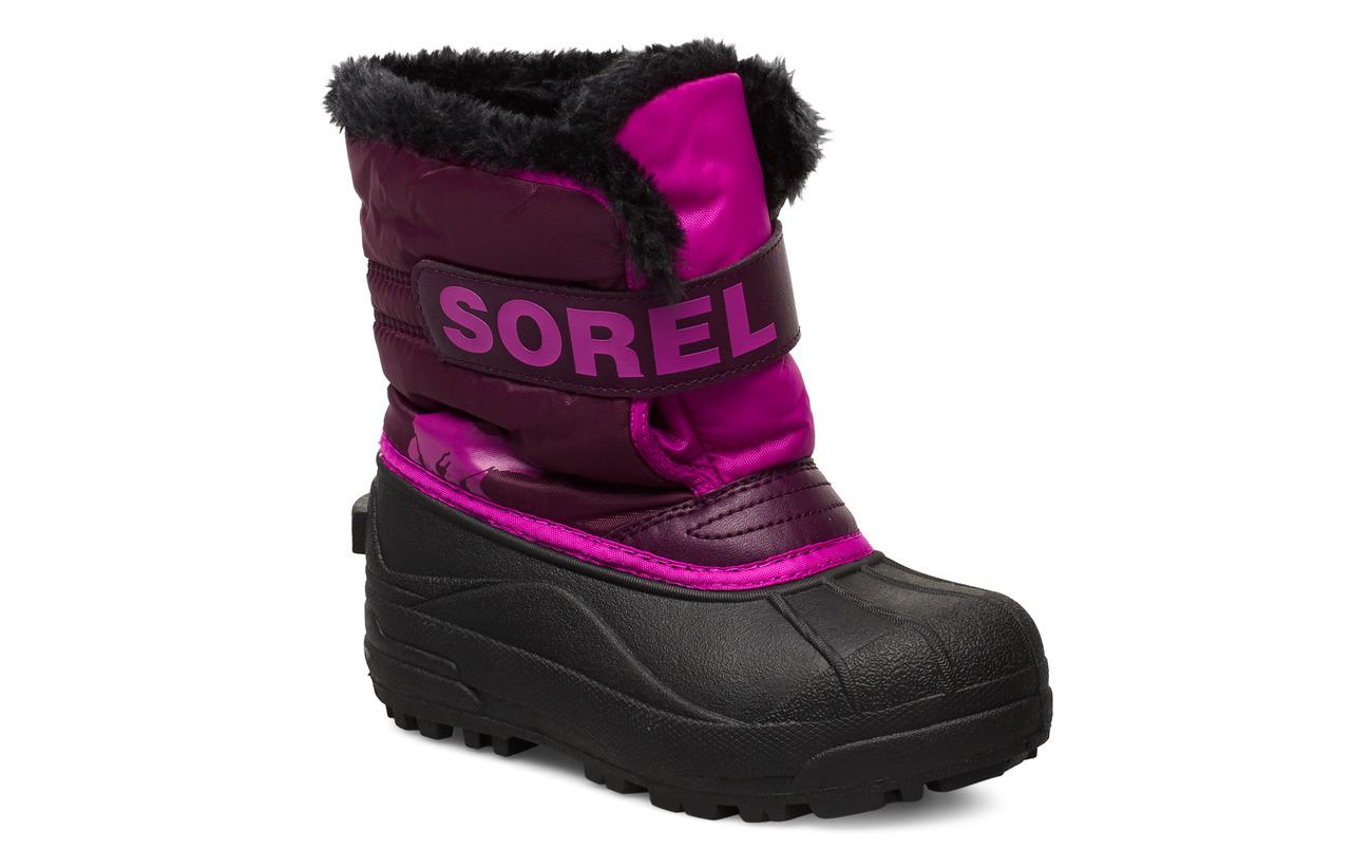 Sorel CHILDRENS SNOW COMMANDER - PURPLE DAHLIA, GROOVY PINK