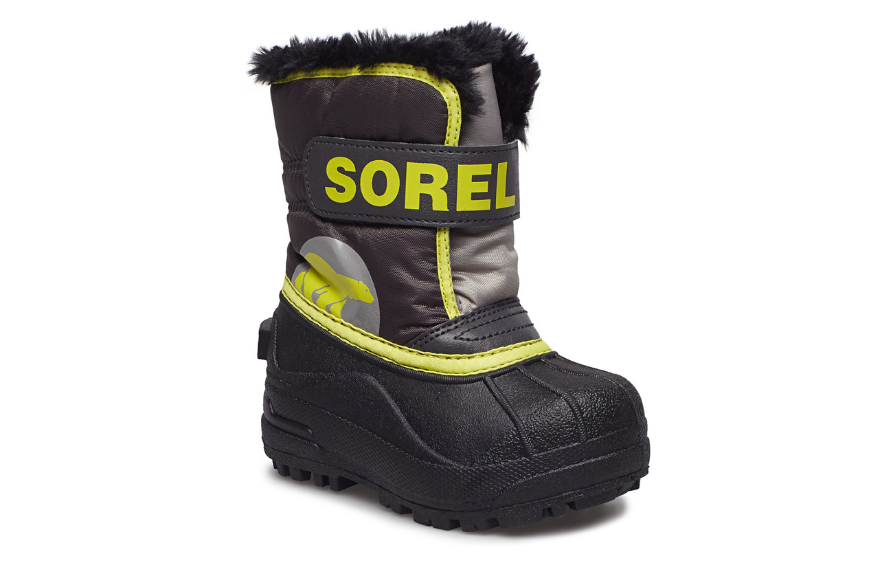 Sorel Toddler's Snow Commander - DARK GREY, WARNING YELLOW