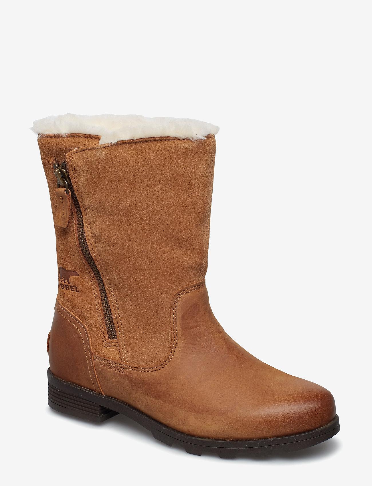 Sorel - EMELIE FOLDOVER - flat ankle boots - camel, brown - 0
