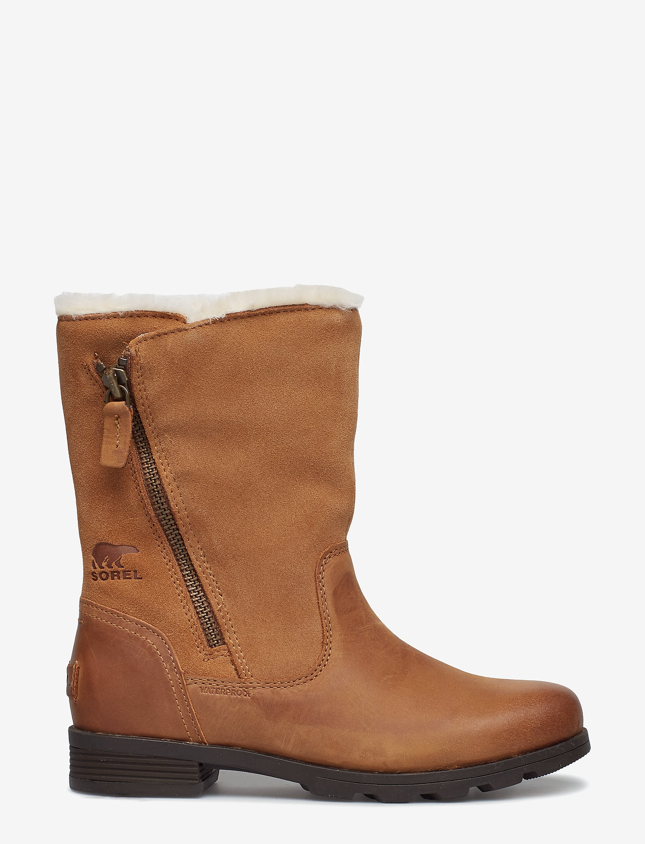 Sorel - EMELIE FOLDOVER - flat ankle boots - camel, brown - 1