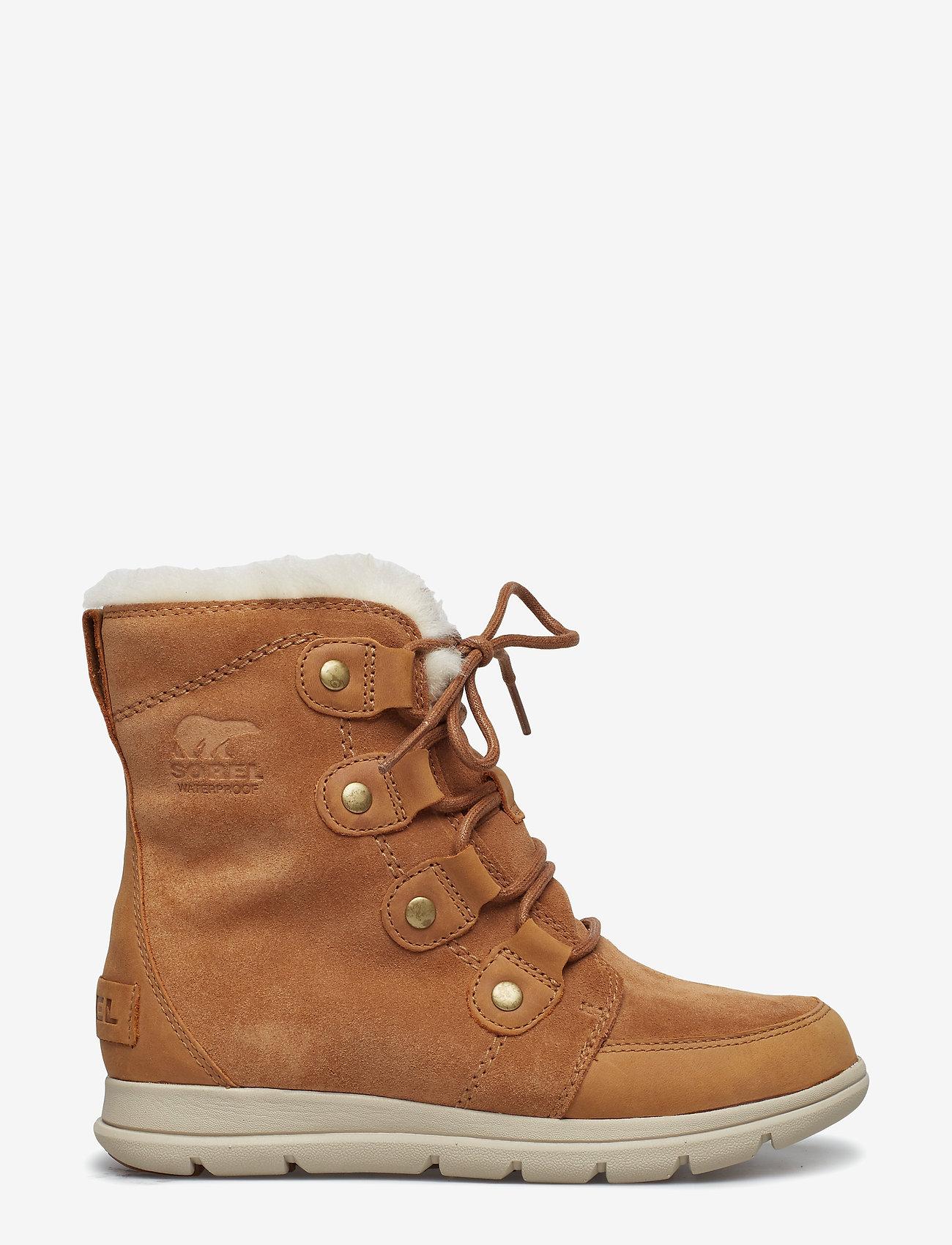 Sorel - SOREL™ EXPLORER JOAN - flat ankle boots - camel brown, ancient fossil - 1