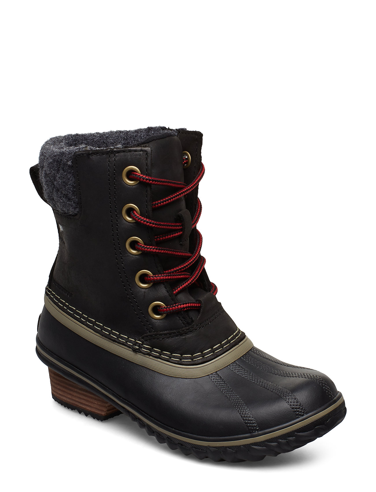 Image of Slimpack Lace Ii Felt Shoes Boots Ankle Boots Ankle Boot - Flat Sort Sorel (3216262539)