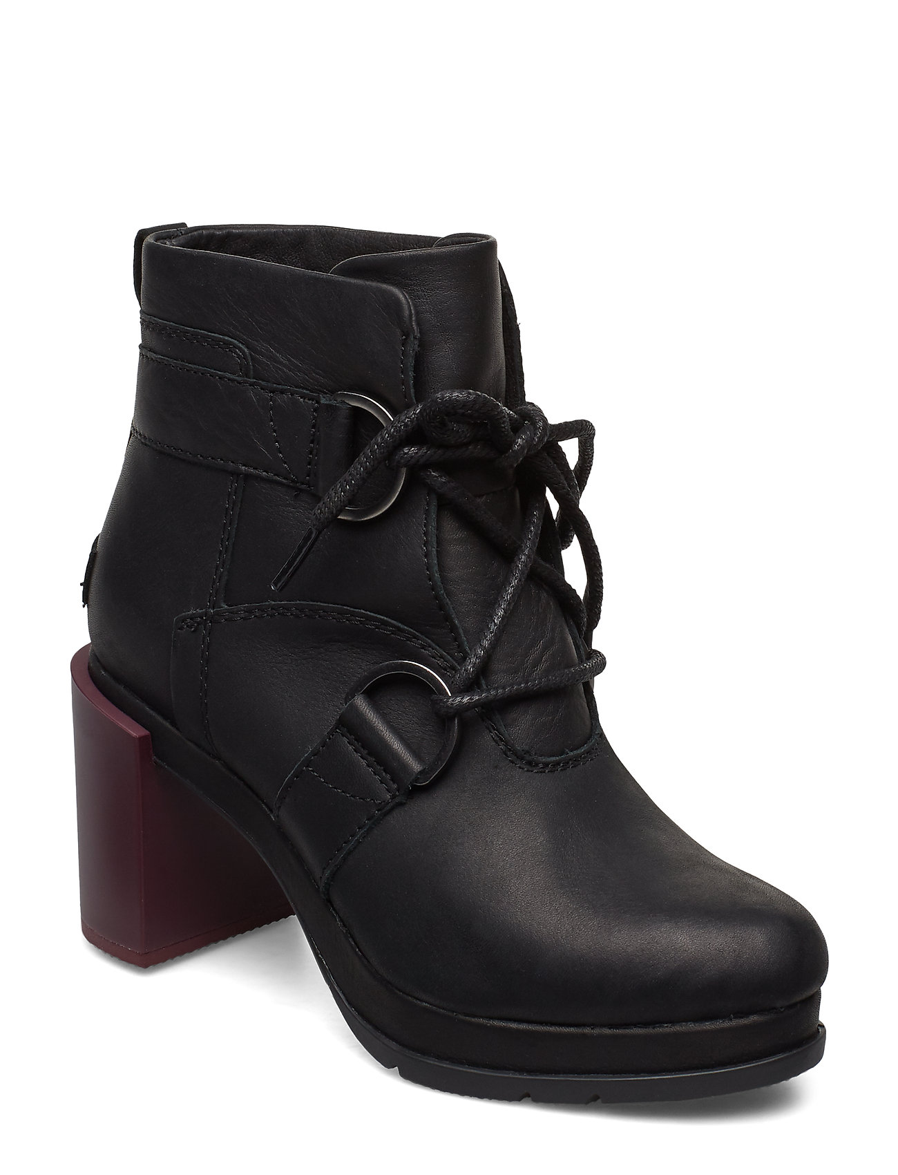 Image of Margo Lace-Up Bootie Shoes Boots Ankle Boots Ankle Boot - Heel Sort Sorel (3217409423)