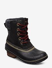 Sorel - SLIMPACK LACE II FELT - flat ankle boots - black, kettle - 0
