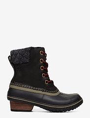Sorel - SLIMPACK LACE II FELT - flat ankle boots - black, kettle - 1