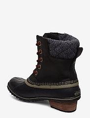 Sorel - SLIMPACK LACE II FELT - flat ankle boots - black, kettle - 2