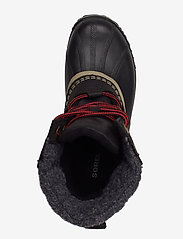 Sorel - SLIMPACK LACE II FELT - flat ankle boots - black, kettle - 3